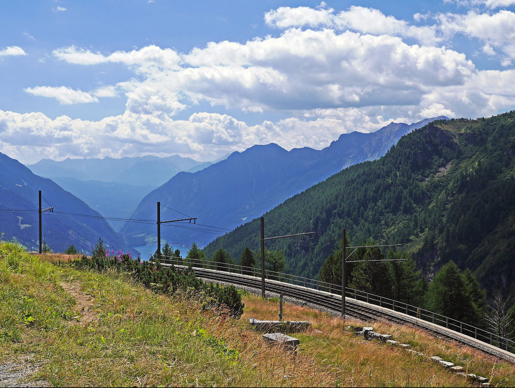 Alp Grüm Ausblick