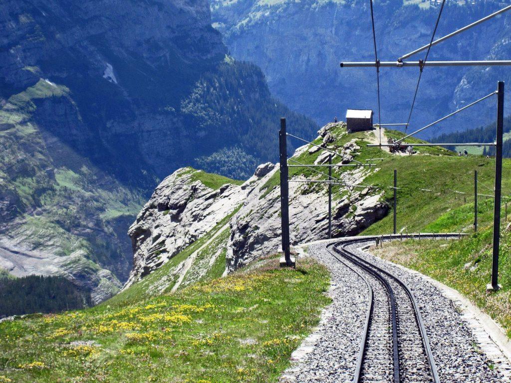 Schweiz Alpen Jungfraubahn