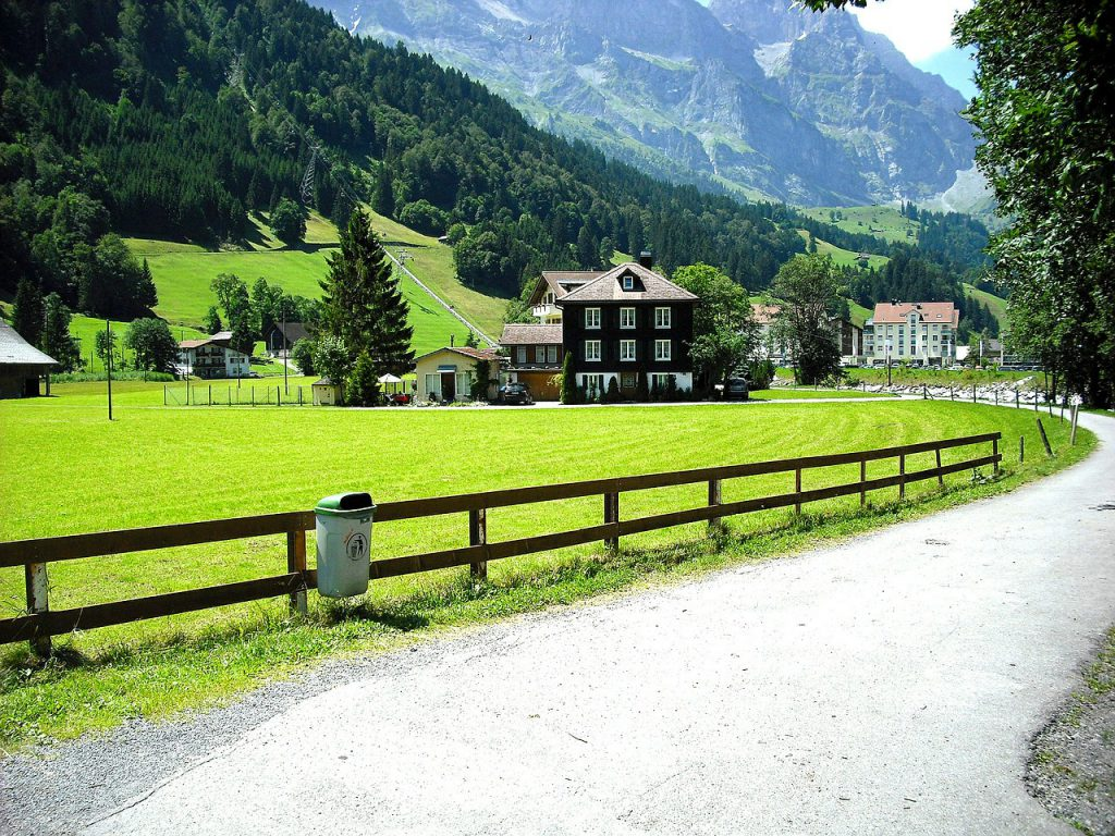Schweiz Landschaft Dorf