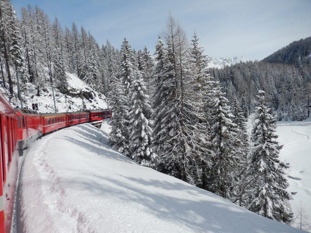 Rhätische Bahn im Winter