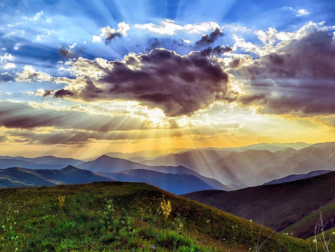 Sonnenuntergang, Natur Landschaft