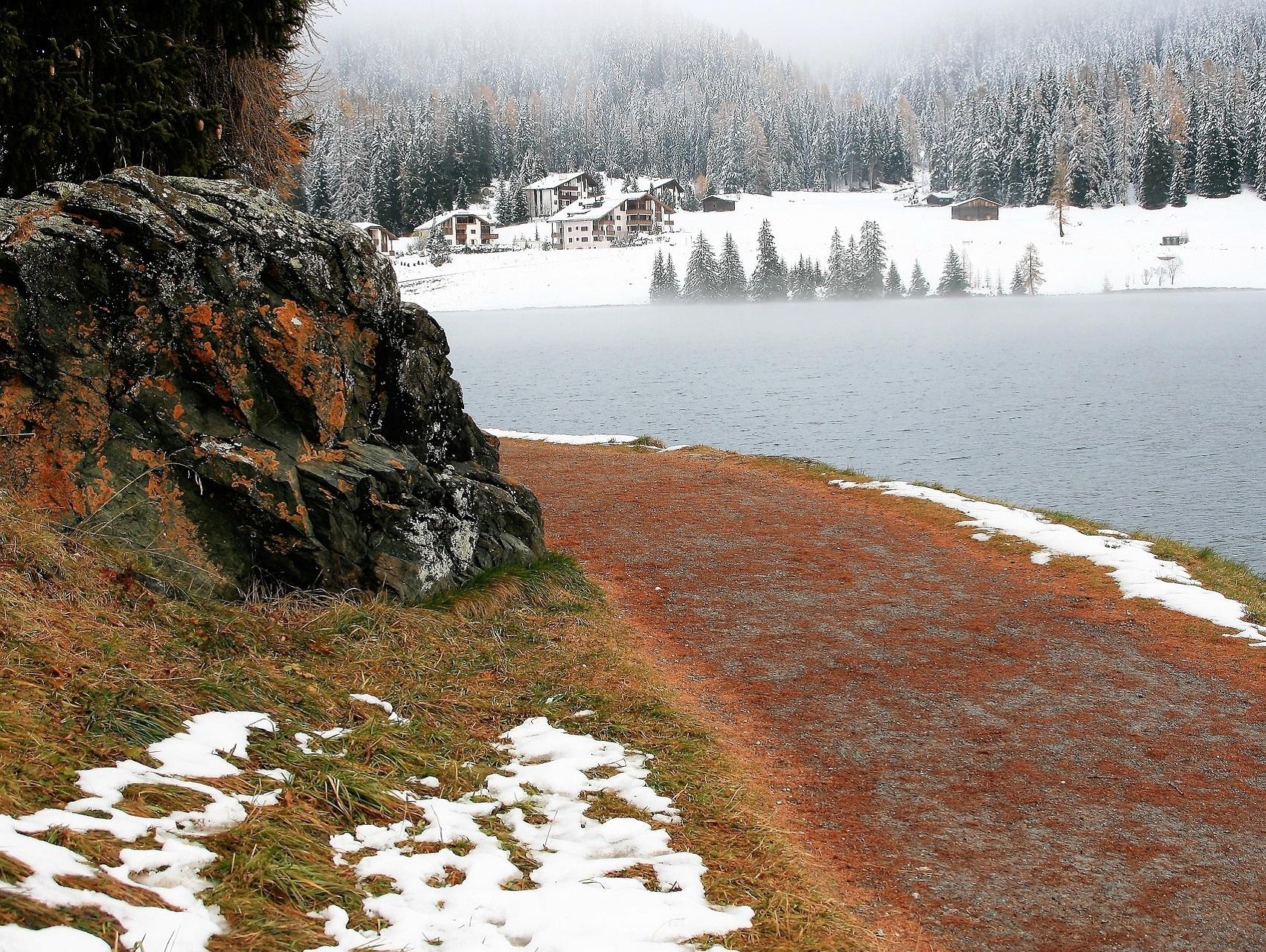 Landschaft Schweiz Graubünden Davos Winter