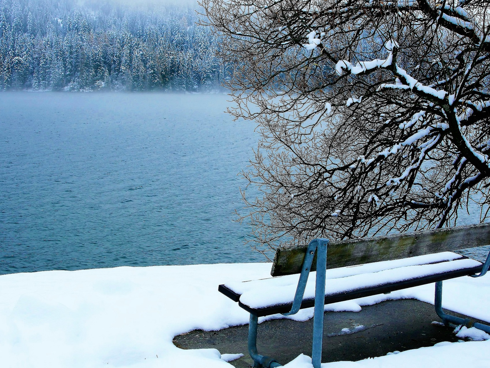 Davosersee Winter