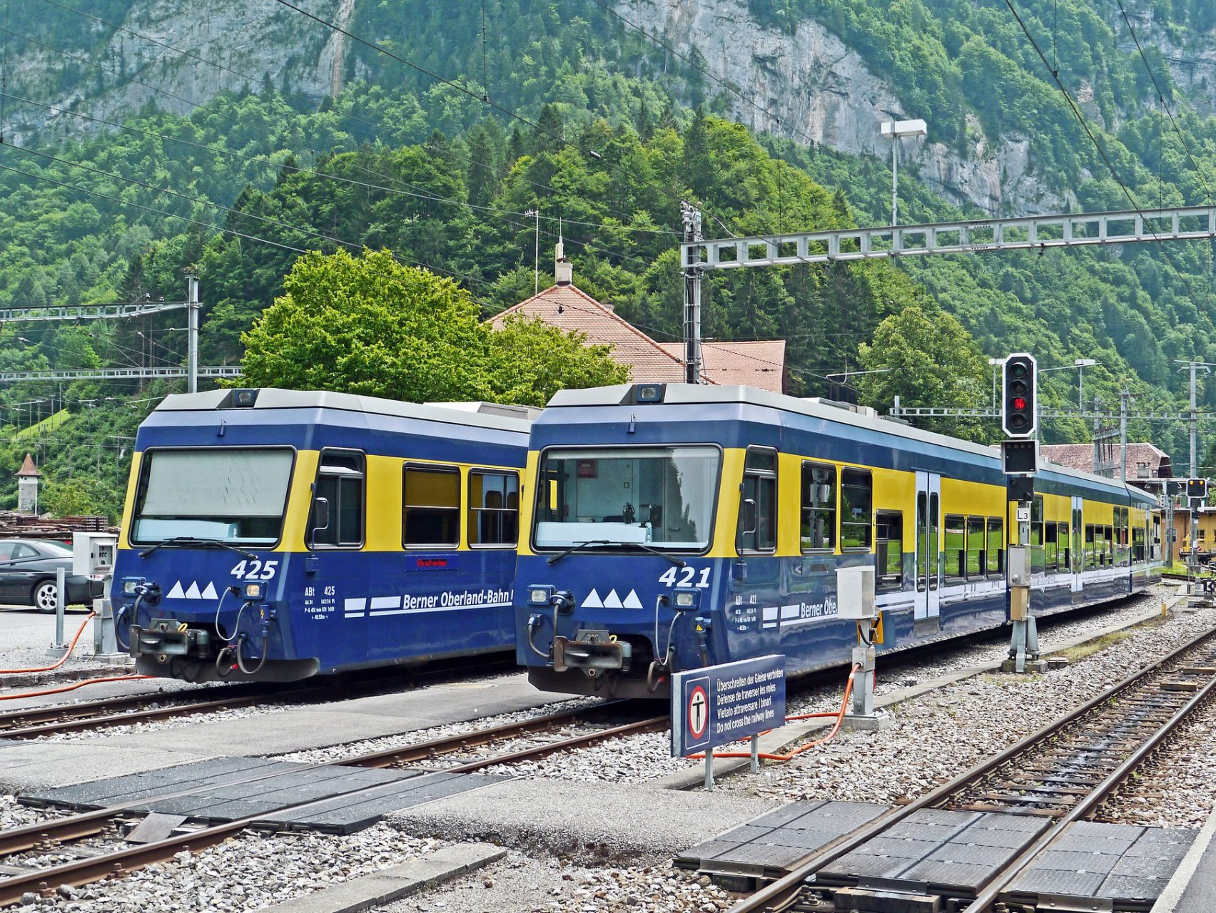 Berner Oberland Bahn (BOB) in Interlaken