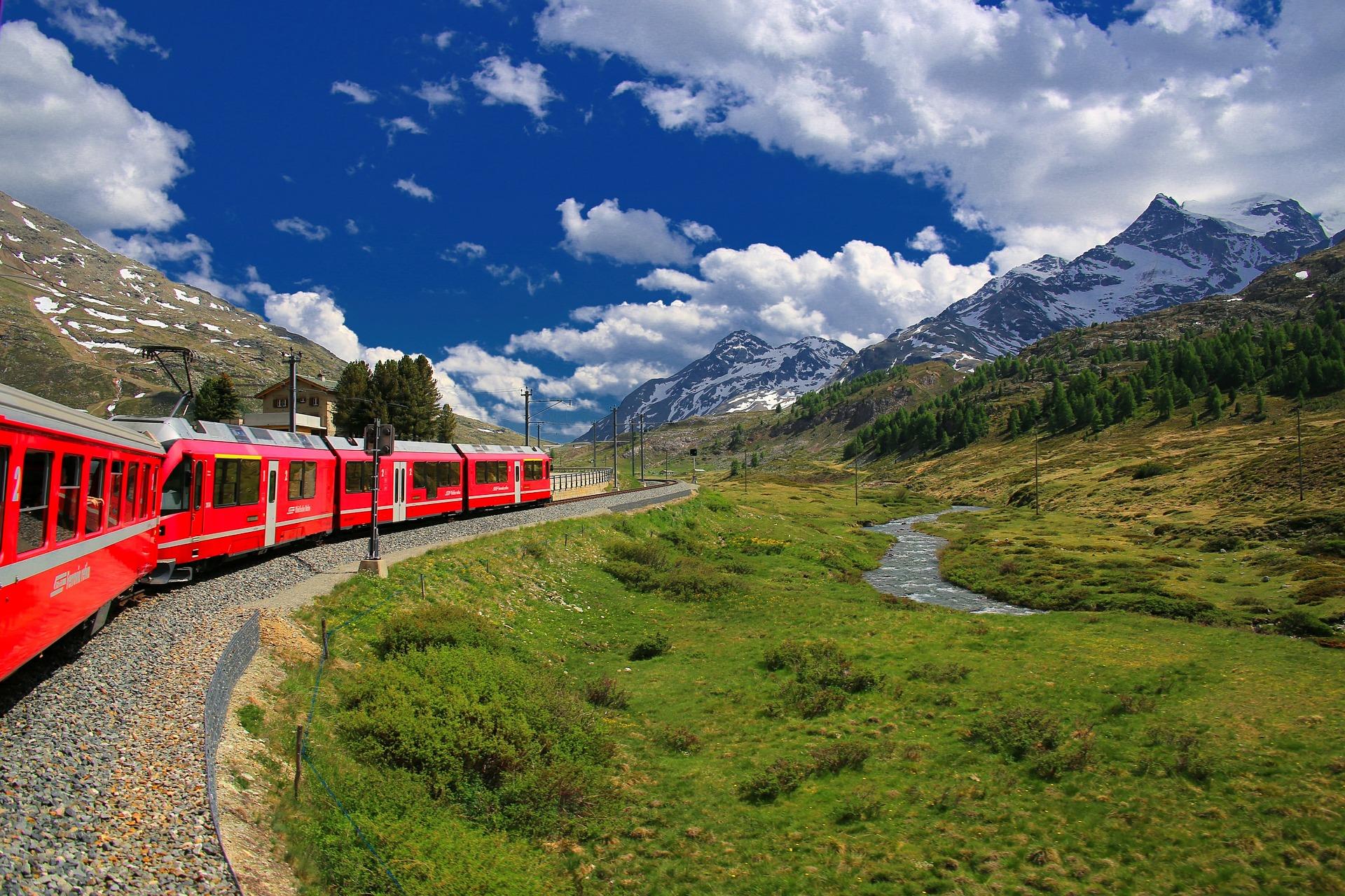 Bahnfahrt in der Schweiz