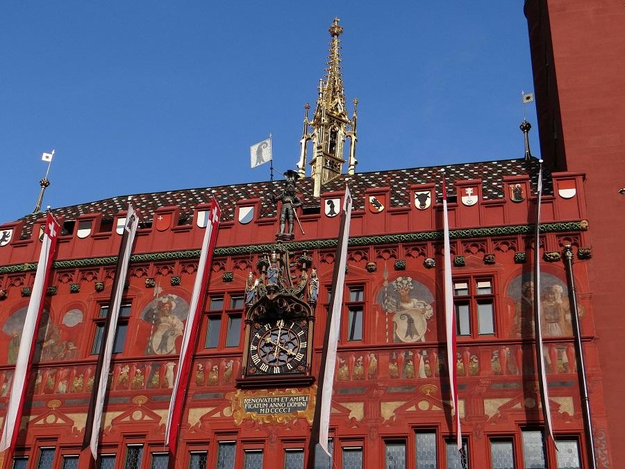 Das Rathaus in Basel