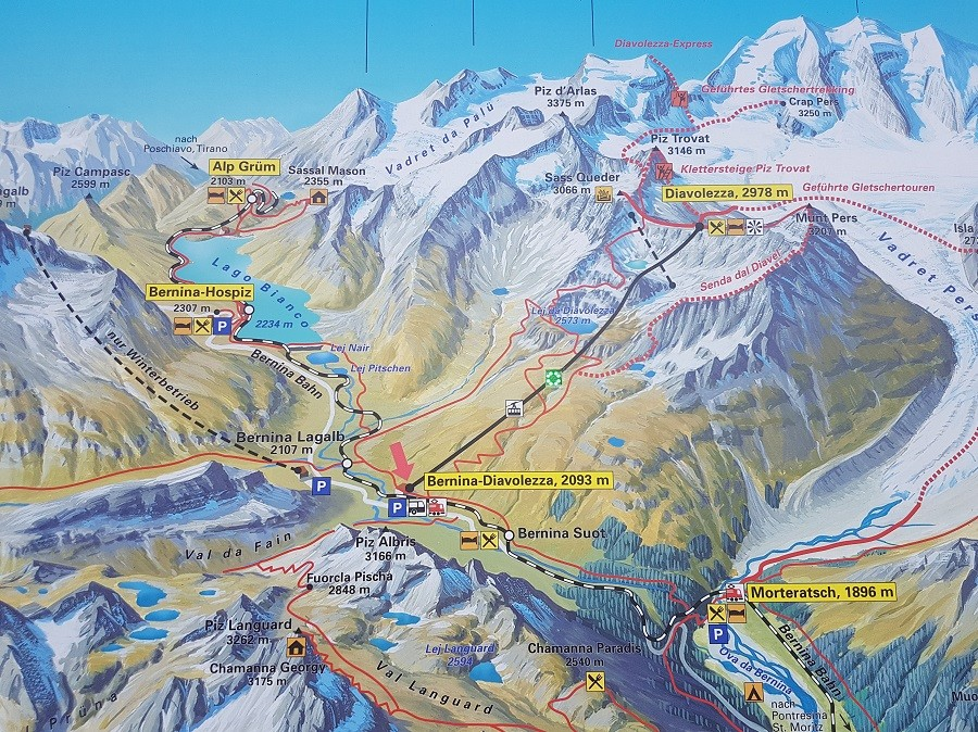 Oberengadin Karte