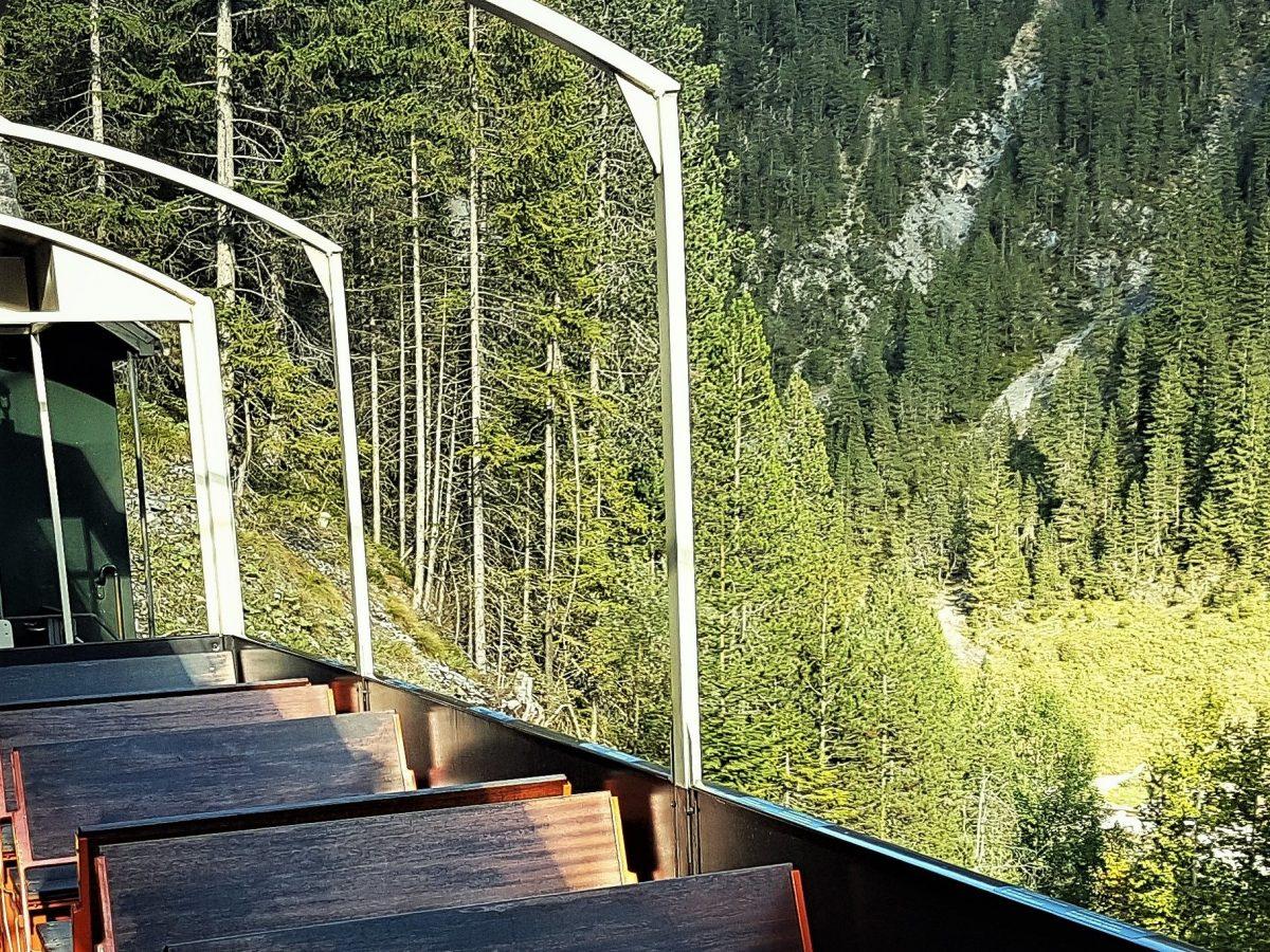 Historischer Zug Davos - Aussichtswagen
