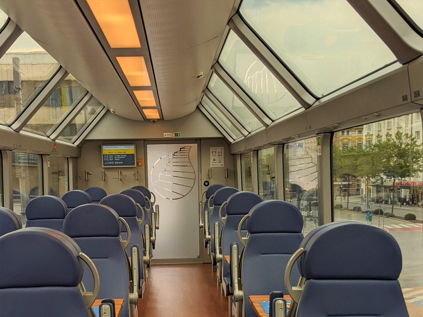 Mariazellerbahn 1. Klasse Panoramawagen