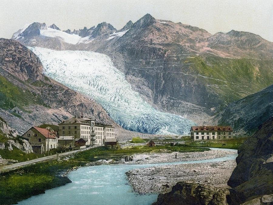 Andermatt Gletsch Rhonegletscher