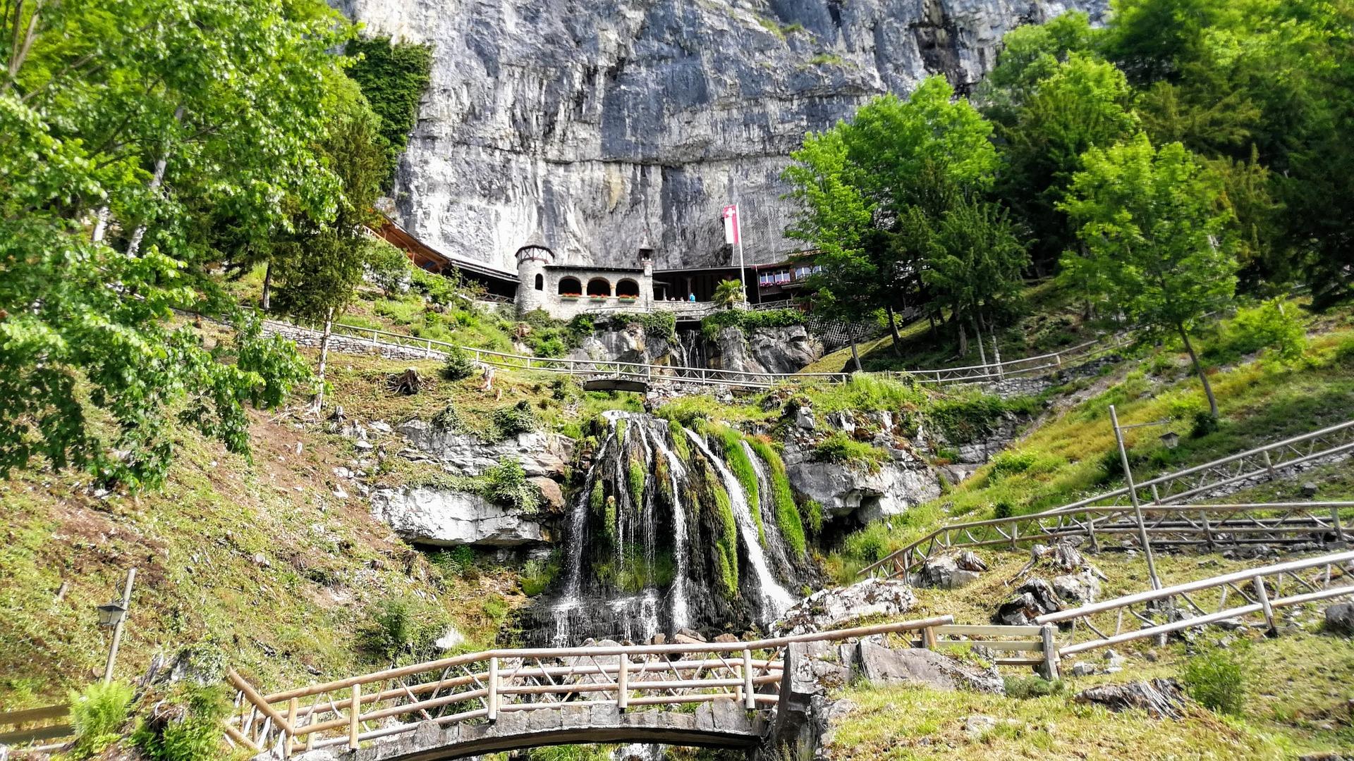 Wasser Wasserfall Be Natur Landschaft Schweiz